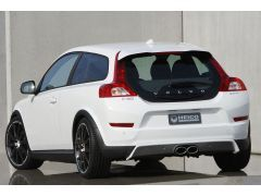 HEICO SPORTIV rear skirt incl. exhaust system C30 D3, D4, D5 (from facelift on, 1 part)