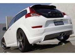 HEICO SPORTIV rear skirt incl. exhaust system C30 D3, D4, D5 (from facelift on, for R-Design, 3 parts)