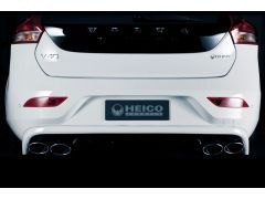 HEICO SPORTIV rear skirt in diffuser look incl. exhaust system V40 (525) D2