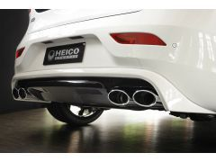 HEICO SPORTIV rear skirt in diffuser look incl. exhaust system V40 (525) T5