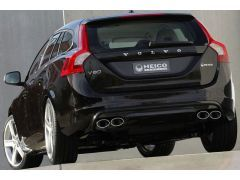 HEICO SPORTIV rear skirt in diffuser look incl. quad outlet exhaust system S60/V60 DRIVe, D3, D4, D5