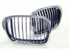Fully chrome kidney grilles