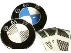 Carbon look roundel badge kit
