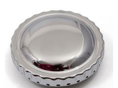 E36 fuel cap cover, silver alloy