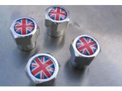 Wheel valve cap set union jack