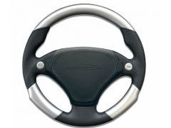 Airbag sport steering wheel 340mm leather / aluminium