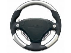 F1-PDK Airbag sport steering wheel 340mm leather / aluminium MUFU