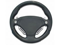 F1-PDK Airbag sport steering wheel 340mm leather / carbon MUFU