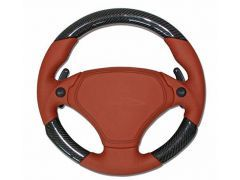 Upgrade custom leather Airbag steering wheel 340mm