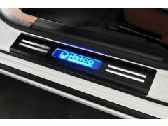 HEICO SPORTIV stainless-steel entrance trim, black anodized, illuminated (2 pieces, front)
