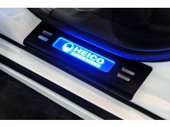 HEICO SPORTIV stainless-steel entrance trim, black anodized, illuminated (2 pieces, back) S60/V60