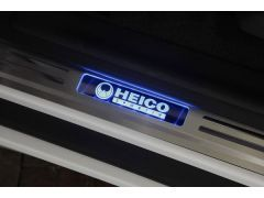 HEICO SPORTIV stainless-steel entrance trim, illuminated (2 pieces, rear)