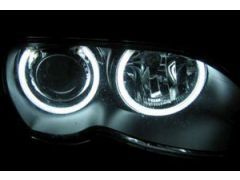 Angel eye conversion, cars with factory xenon headlight - Not for facelift 2 dr models