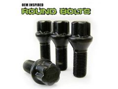 Satin black wheel bolts set