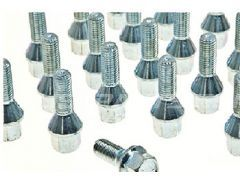 Polished wheel bolts set