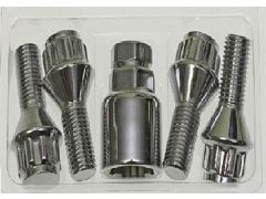 Security locking wheel bolt set