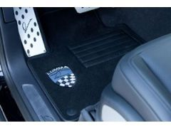 LUMMA FLOOR MATS SET OF 4-PIECES WITH LEATHER MOUNT AND LUMMA LOGO