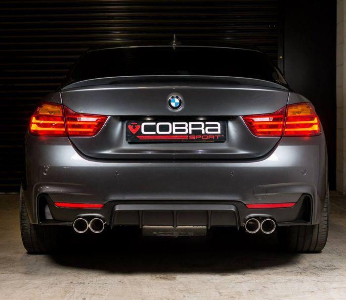 Cobra Sport Quad Exhaust Rear Section F32 F36 435d BMW 4 Series
